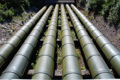 Conduites d'eau colossales Photographie stock libre de droits