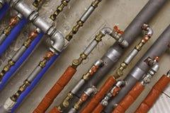 Conduites d'eau et tubes industriels Photos libres de droits