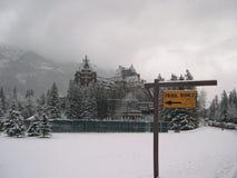 Conduites de journal de Banff Photographie stock