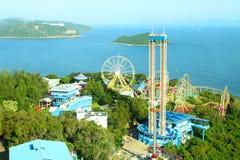 Conduites de parc d'attractions à Hong Kong Photographie stock libre de droits