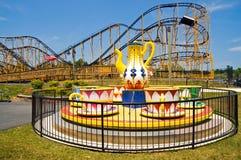 Conduites de parc d'attractions Images libres de droits
