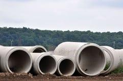 Conduits d'égout concrets Images stock