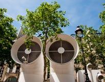 Conduits d'air de centre de Pompidou Photographie stock libre de droits