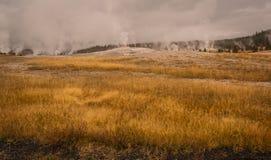 Conduits de vapeur de Yellowstone Photo libre de droits