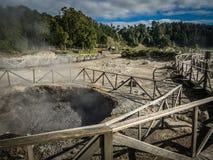 Conduits volcaniques de Furnas image stock