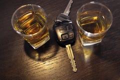 Condução bêbeda Imagens de Stock
