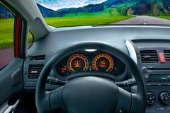 Condurre un'automobile Fotografia Stock