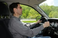 Condurre un camion Immagine Stock