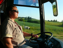 Condutor de autocarro Fotos de Stock