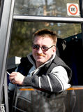 Condutor de autocarro Fotografia de Stock Royalty Free
