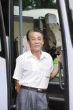 Condutor de autocarro asiático fotografia de stock