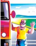 Condutor de camião ilustração royalty free