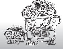 Condutor de camião ilustração stock