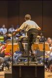 Condutor na orquestra clássica no trabalho em Manaus, Brasil Imagens de Stock