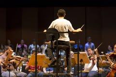 Condutor na orquestra clássica no trabalho em Manaus, Brasil Imagem de Stock Royalty Free