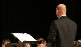 Conduttore di concerto di musica Immagine Stock