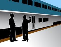 Conduttore di treno illustrazione vettoriale