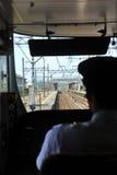 Conduttore di treno fotografia stock libera da diritti