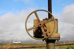 Conduttura del gas naturale Fotografia Stock