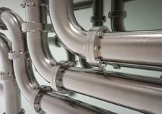 Conduttura del metallo dell'industriale illustrazione vettoriale