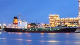 Conduttura del prodotto chimico di trasporto di carico Fotografie Stock