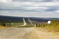 Conduttura dell'Alaska e Dalton Highway Immagine Stock Libera da Diritti