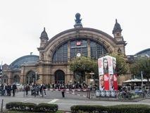 Conduttura di Francoforte, stazione centrale Immagini Stock Libere da Diritti