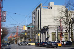 Conduttura e Hasting e droghe a Vancouver Fotografia Stock