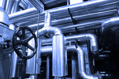 Condutture del gas e del petrolio Fotografia Stock Libera da Diritti