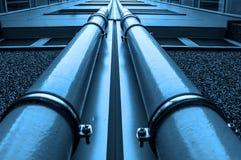 Condutture del gas e del petrolio Fotografia Stock