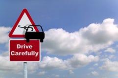 Conduza com cuidado Foto de Stock