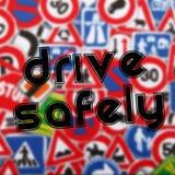 Conduza com segurança ilustração royalty free