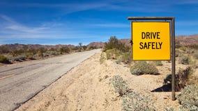 Conduza com segurança o sinal foto de stock royalty free