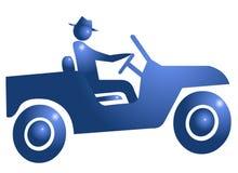 Conduza o ícone do símbolo da aventura ilustração royalty free