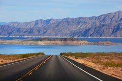 Conduzca al lago Mead Fotografía de archivo libre de regalías