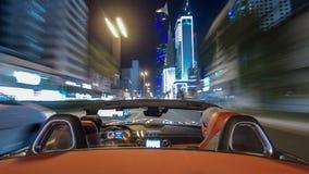 Conduzca con el tráfico en el hyperlapse del timelapse de la carretera de la ciudad en Kuwait Kuwait, Oriente Medio almacen de video