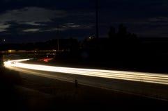 Conduzca con la noche Imágenes de archivo libres de regalías