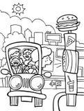 Conduzca con la pesadilla - blanco y negro Foto de archivo libre de regalías