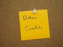Conduzca cuidadosamente imagen de archivo libre de regalías
