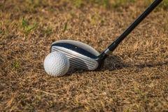Conduzca el golf con luz del sol Imagen de archivo libre de regalías