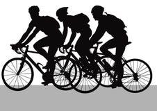 Conduzindo ciclistas ilustração do vetor