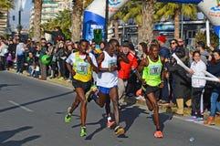 Conduzindo a maratona Fotos de Stock Royalty Free