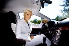 Conduzindo a menina Imagem de Stock