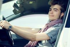 Conduzindo o carro Imagem de Stock