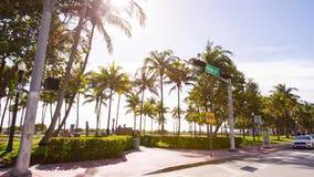 Conduzindo o oceano conduza a rua, Miami, Florida vídeos de arquivo