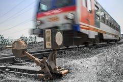 Conduzindo o trem  Imagem de Stock