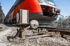 Conduzindo o trem  Foto de Stock