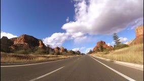 Conduzindo para a rocha de Bell em Sedona, Az filme