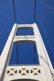 Conduzindo a ponte de Mackinac foto de stock