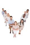 Conduzindo sua equipe ao sucesso Imagem de Stock Royalty Free
